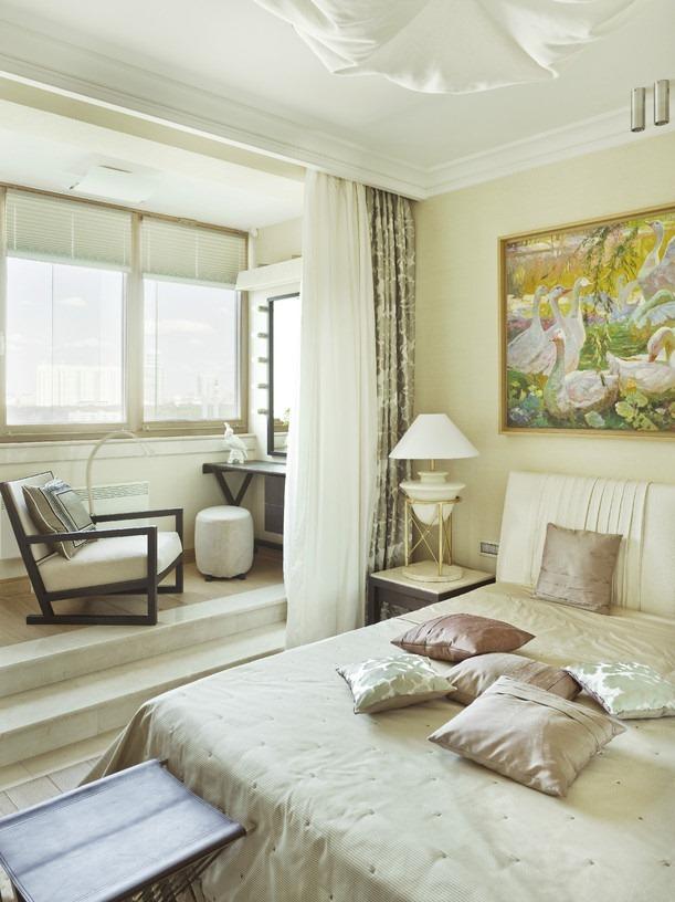 балкон совмещённый со спальней