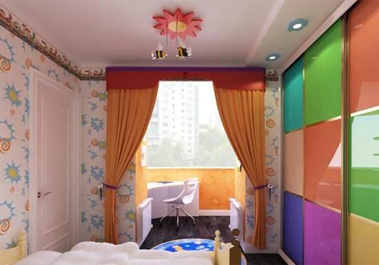 балкон совмещённый с детской