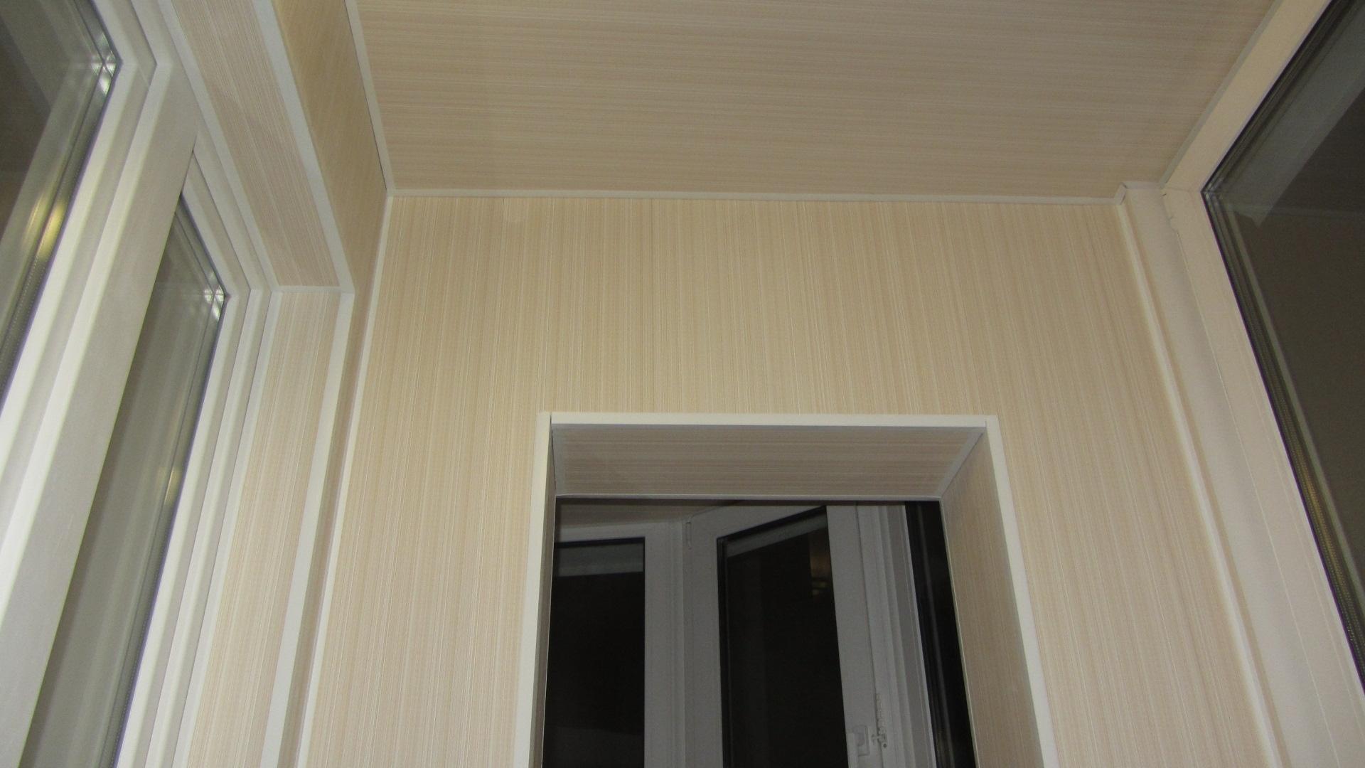 Обшивка балкона панелями пвх в минске и области.