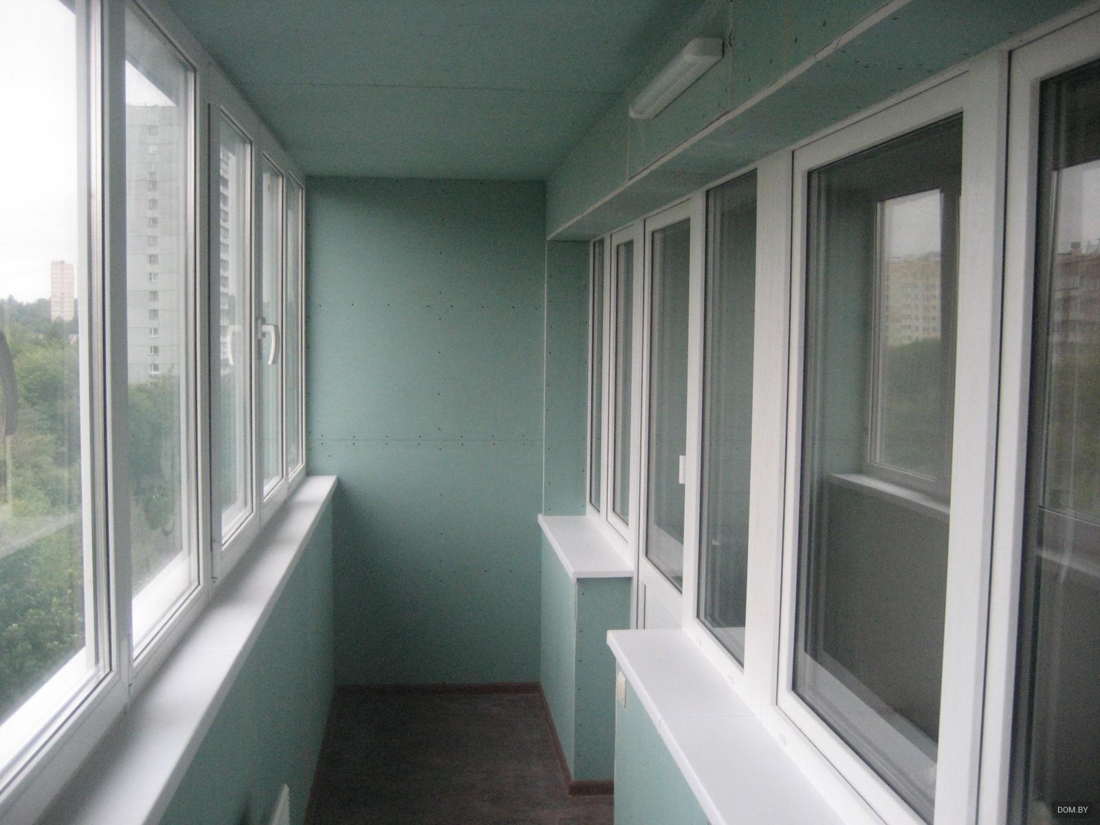 Обшивка балкона и лоджии гипсокартоном в минске.