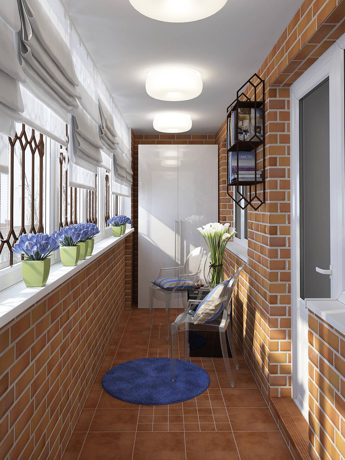 Дизайн балкона лоджии 6метров..